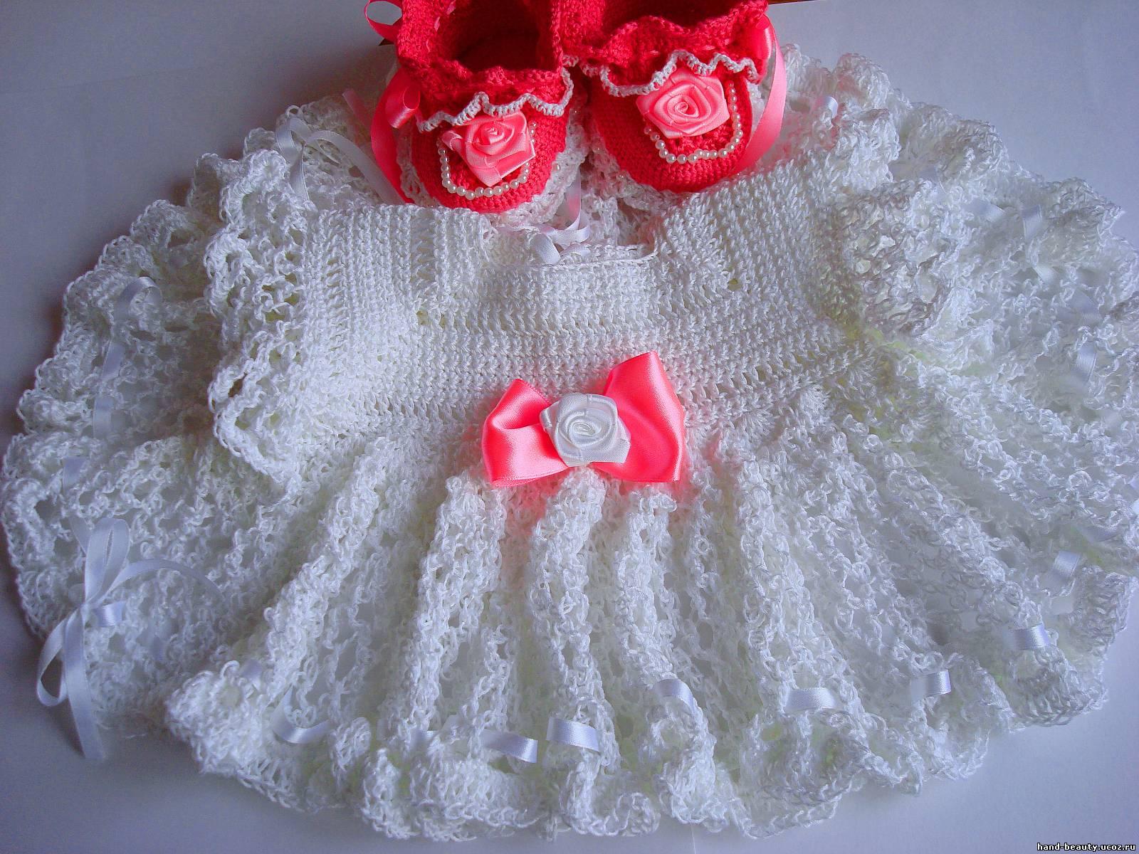 Платье для девочки на выписку своими руками 79